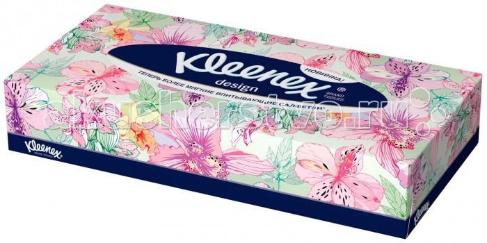 Салфетки Kleenex Салфетки в коробке Design 70 шт. салфетки duni салфетки duni комплект 2 шт