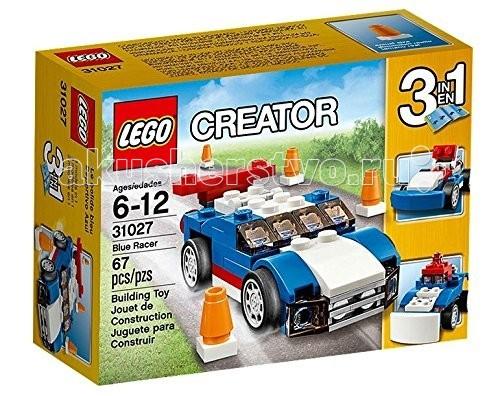 Lego Creator 31027 Лего Криэйтор Синий гоночный автомобиль lego creator 31029 лего криэйтор грузовой вертолет