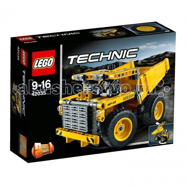 Конструктор Lego Technic 42035 Лего Техник Карьерный грузовикTechnic 42035 Лего Техник Карьерный грузовикКонструктор Lego Technic 42035 Лего Техник Карьерный грузовик собирается из 362 деталей.  Помоги развезти песок на огромном Карьерном Грузовике!  В этой модели реализован потрясающий масштаб этой массивной машины, она оснащена огромными колесами, двигателем с движущимся поршнем и ремнем трансмиссии, усиленным бампером и защитой решетки радиатора, опрокидывающимся кузовом, водительской кабиной и работающим рулевым управлением.   Выполни маневр, чтобы поставить эту мощную машину в нужное положение, затем опрокинь и закрепи массивную грузовую платформу!  Отличается желто-черной окраской.  Эту модель можно трансформировать в надежный Колесный Бульдозер.  Двигатель с движущимся поршнем. Управление положением кузовом с помощью специального механизма. Поворотные колеса. Количество деталей: 362 шт.<br>
