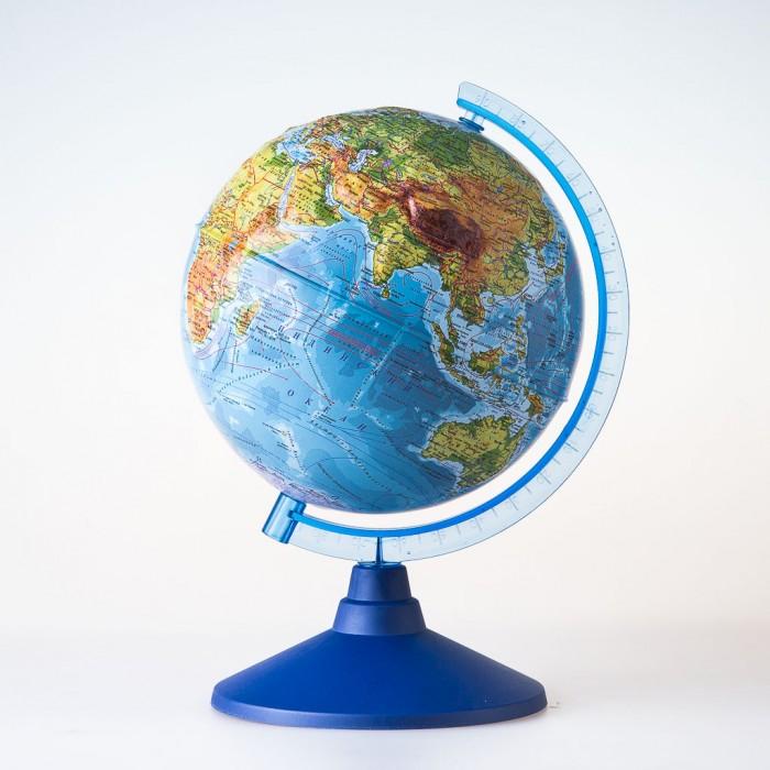 Глобусы Globen Глобус Физико-политический рельефный 25 см с подсветкой, Глобусы - артикул:464636