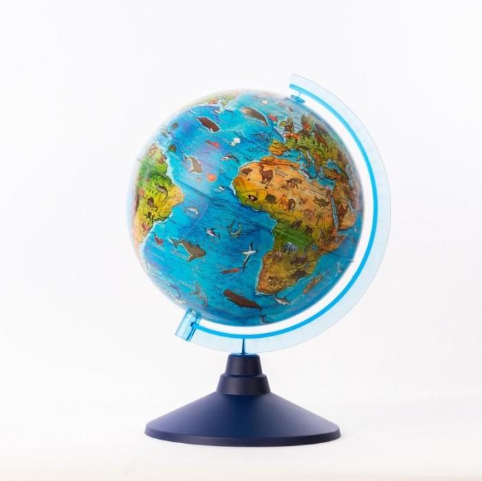 Globen Глобус Зоогеографический детский 21 см с подсветкой