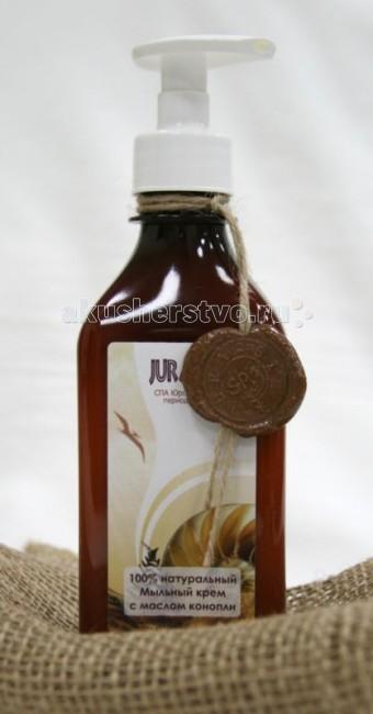 Косметика для мамы Jurassic Spa Крем мыльный для душа с маслом конопли 250 мл антицеллюлитный крем натуральное армирование jurassic spa 250 мл