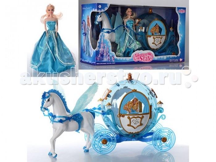 Куклы и одежда для кукол Zhorya Карета с лошадью и куклой ZYA-A2406-1, Куклы и одежда для кукол - артикул:465736