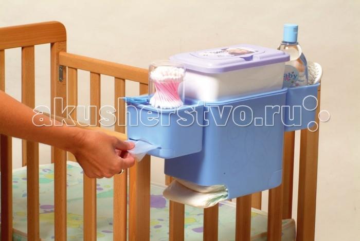 Детская мебель , Аксессуары для мебели Litaf Полочка на детскую кроватку Happy Nappy арт: 466251 -  Аксессуары для мебели