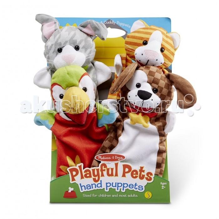 Ролевые игры Melissa & Doug Плюшевые куклы на руку-Животные джд джой joy обезьяны плюшевые игрушки куклы no