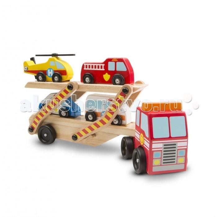 Деревянная игрушка Melissa & Doug Погрузчик Службы спасения