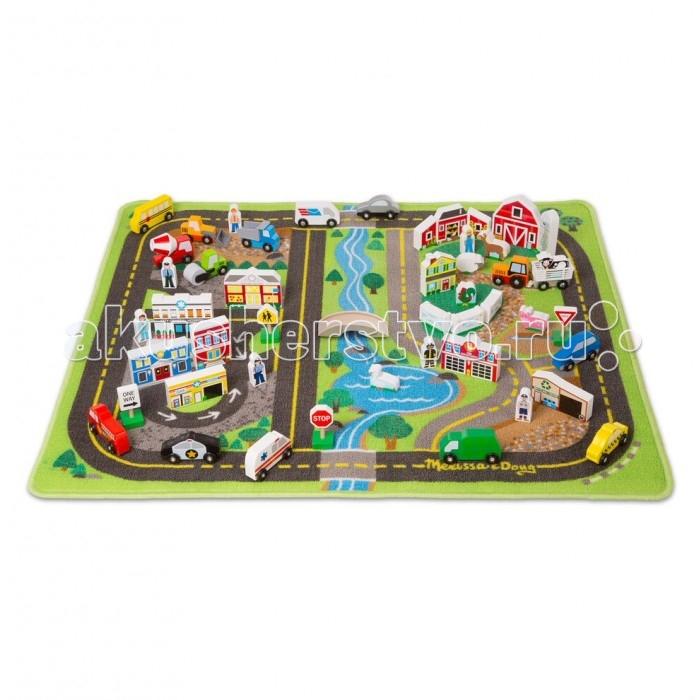 Игровые коврики Melissa & Doug Город-набор делюкс фигурки игрушки лэм дорожные знаки