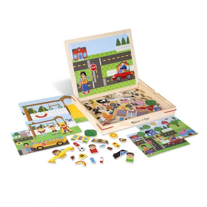 Деревянные игрушки Melissa & Doug Набор магнитов с фоном