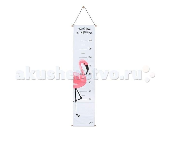Аксессуары для детской комнаты Jollein Ростомер Фламинго 70-140 см спальные конверты jollein со съемными рукавами 110 см тог 1 7