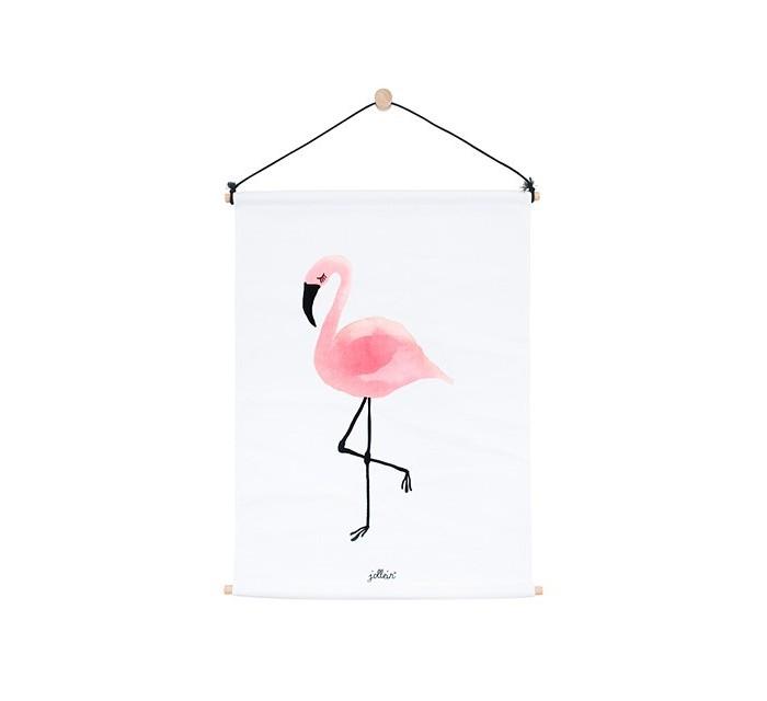 Карманы и панно Jollein Постер Фламинго 42x60 см