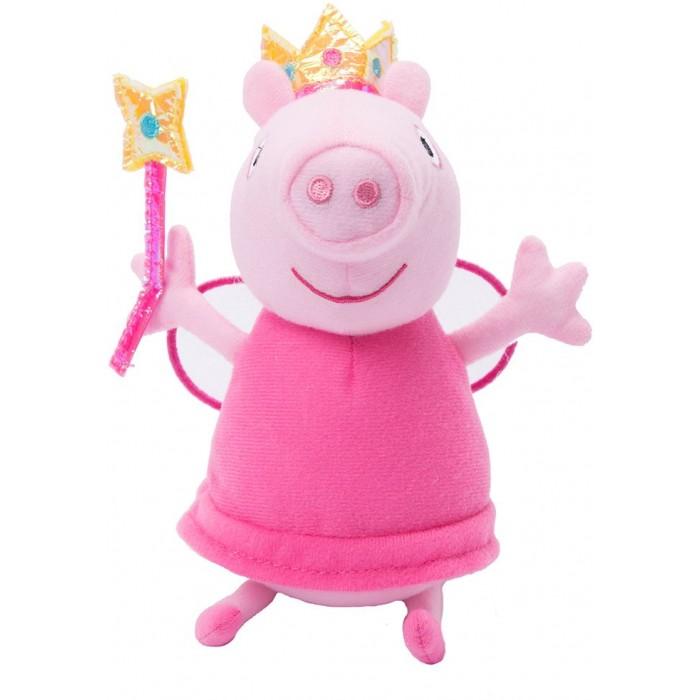 Мягкие игрушки Свинка Пеппа (Peppa Pig) Фея с палочкой 20 см мягкие игрушки peppa pig мягкая игрушка пеппа модница 20 см