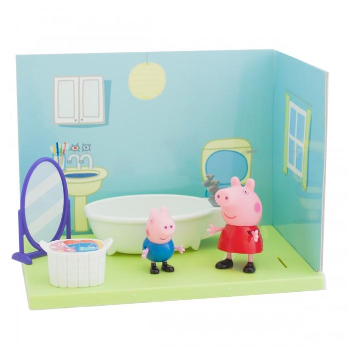Игровые наборы Свинка Пеппа (Peppa Pig) Ванная комната Пеппы и Джорджа игровые наборы свинка пеппа peppa pig игровой набор водная горка луна парк