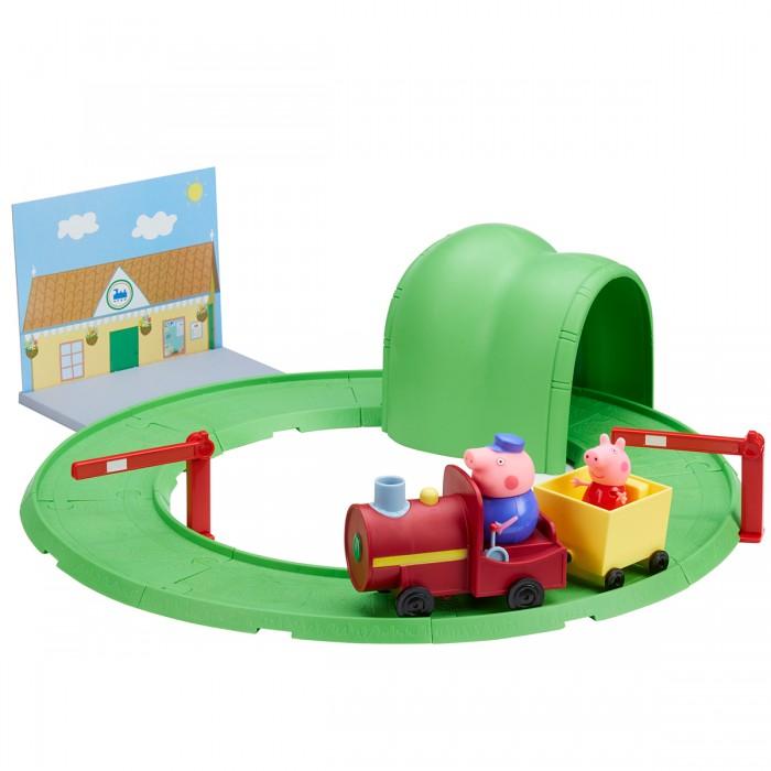 Игровые наборы Свинка Пеппа (Peppa Pig) Паровозик с туннелем игровой набор peppa pig пеппа в автомобиле