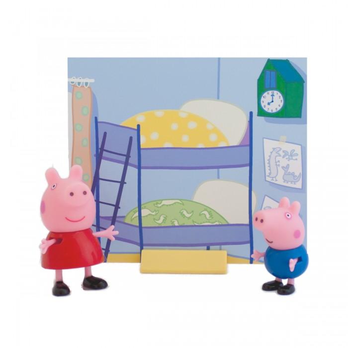 Игровые наборы Свинка Пеппа (Peppa Pig) Пеппа и Джордж мягкая игрушка peppa pig джордж с машинкой свинка розовый текстиль 18 см 29620