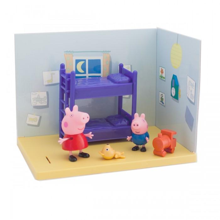 Игровые наборы Свинка Пеппа (Peppa Pig) Спальня Пеппы и Джорджа мягкая игрушка peppa pig джордж с машинкой свинка розовый текстиль 18 см 29620