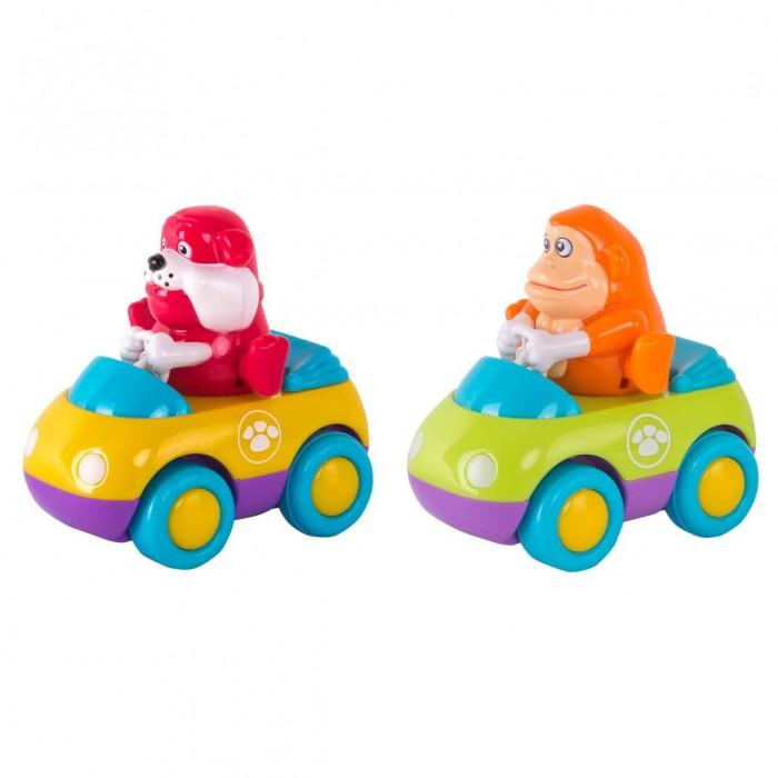 Машины Happy Kid Toy Зверушки на колесиках Обезьянка и Бульдог 2 шт. happy kid пингвиненок на катере с 2 лет