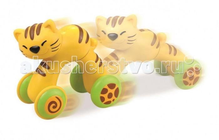 Каталки-игрушки Happy Kid Toy Котёнок Нажми и поедет развивающие игрушки happy kid toy пирамидка матрешка курочка несушка