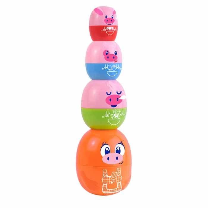 Развивающие игрушки Happy Kid Toy Пирамидка-матрешка Мама-хрюшка, Развивающие игрушки - артикул:468201