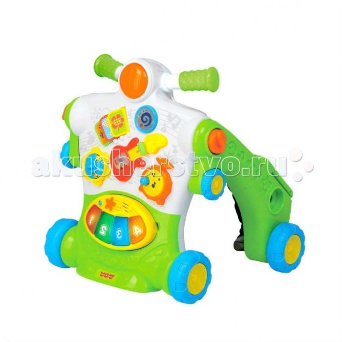Ходунки Happy Kid Toy каталка Мопедкаталка МопедHappy Kid Toy Ходунки-каталка Мопед свет звук представляют собой развивающую игру 2 в 1. Они помогут маленькому ребенку в полной безопасности совершать первые шаги, кататься на собственном мотоцикле отталкиваясь ножками, а также увлеченно изучать игровую панель, оснащенную множеством функциональных кнопок со встроенными музыкальными, звуковыми модулями и световыми эффектами.  Такая каталка будет стимулировать двигательную активность ребенка и даст ему возможность познавать мир через игру с разноцветными элементами, развивая зрительное и слуховое восприятия. Ходунки имеют надежную конструкцию, они сделаны из нетоксичного пластика высокого качества.<br>
