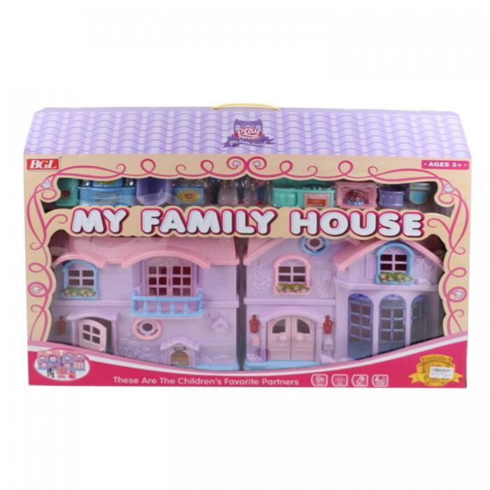 BGL Кукольный дом с мебелью, фигурками и светозвуковыми эффектами JB202093