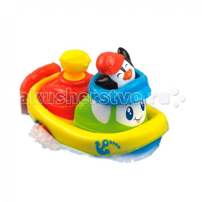 Купание малыша , Игрушки для ванны Happy Kid Toy Заводная игрушка для ванны Кораблик Пингвин арт: 468866 -  Игрушки для ванны