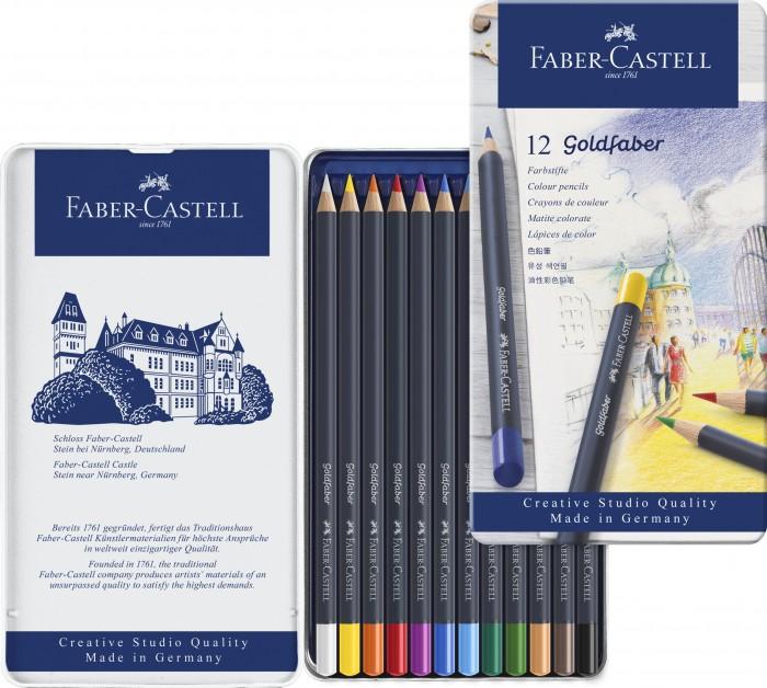 Картинка для Faber-Castell Цветные карандаши Goldfaber в металлической коробке 12 шт.