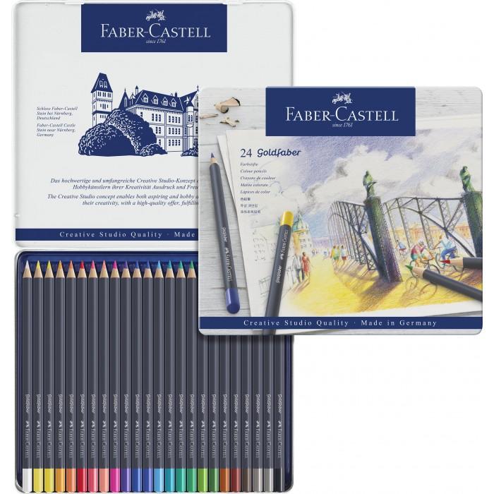 Картинка для Faber-Castell Цветные карандаши Goldfaber в металлической коробке 24 шт.