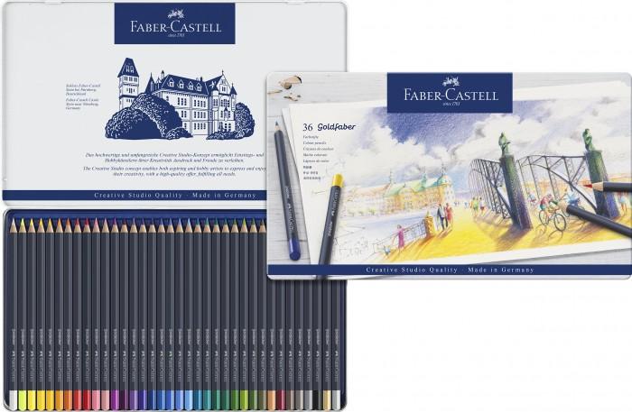 Faber-Castell Цветные карандаши Goldfaber в металлической коробке 36 шт. от Faber-Castell