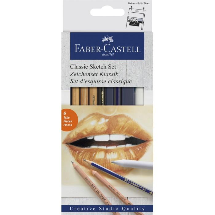 Faber-Castell Набор для рисования Классический в картонной коробке 7 предметов