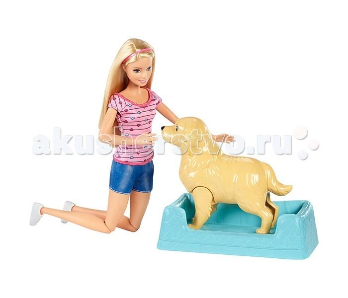 Barbie Mattel Кукла Барби и собака с новорожденными щенками