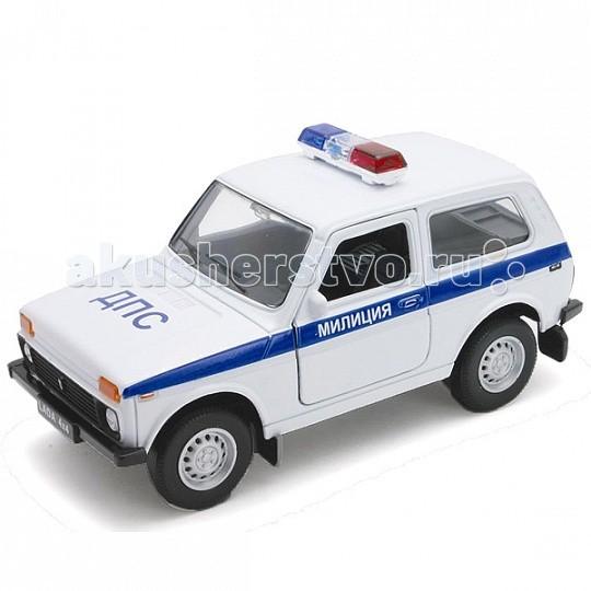 Машины Welly Модель машины 1:34-39 Lada 4x4 Милиция ДПС 42386PB