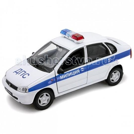 Машины Welly Модель машины 1:34-39 Lada Kalina Милиция ДПС 42383PB welly lada kalina rally 42383ry