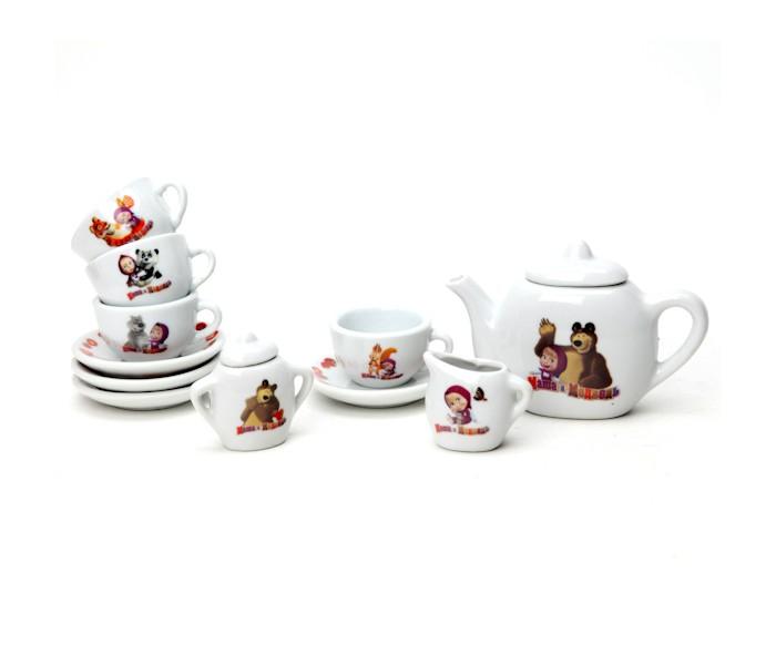 Ролевые игры Играем вместе Набор посуды Маша и Медведь 11 предметов игрушки для ванной играем вместе набор для купания маша и медведь