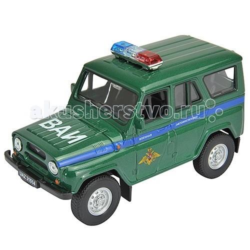 Машины Welly Модель машины УАЗ 31514 Военная Автоинспекция 42380MC autotime модель автомобиля uaz 39625 военная автоинспекция