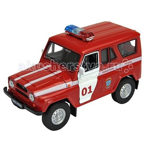 Машины Welly Модель машины УАЗ 31514 Пожарная Охрана 42380FS welly welly модель машины газель пожарная охрана