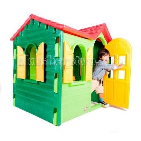 Little Tikes Игровой домик Дачный 440SИгровой домик Дачный 440SОтличный игровой домик 440S от Little tikes для дачного участка. Полноразмерная дверь, ставни на всех окнах и множество аксессуаров внутри: телефон, раковина, кран и плита (варочная поверхность + выключатели).  Ставни и дверь легко отрываются и закрываются, ребенку нет необходимости прибегать к помощи взрослых.  При изготовлении домика применяется метод центробежного литья, что позволяет сделать его ударопрочным и устойчивым к перепадам температур.  Выдерживает температуру до -18C  Габаритные размеры собранного домика: 127 х 104 х 131 см  Большое количество аксессуаров внутри.<br>