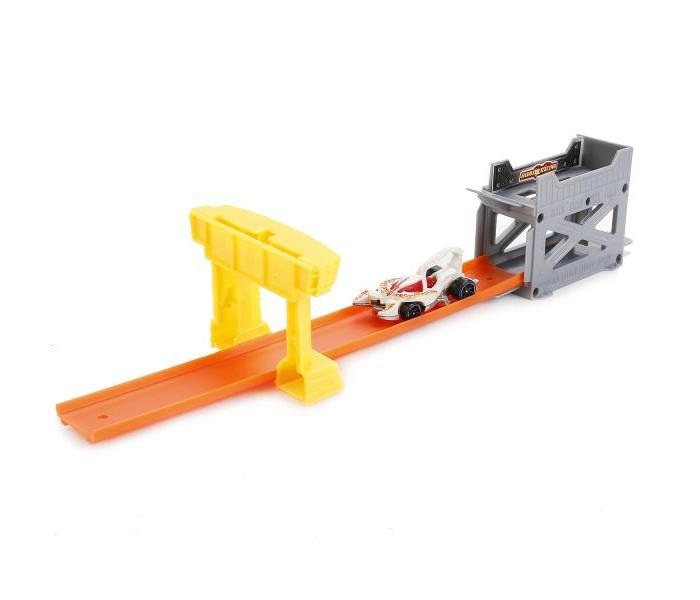 Технопарк Трек-мини с мишенью и металлической машинкой