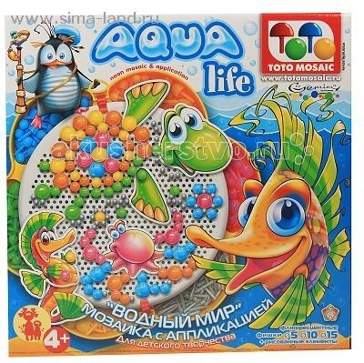 ToysUnion Мозаика Цветок, Аква, д.5,10,15 + аппликация