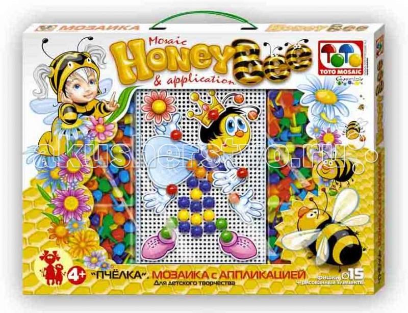 Мозаика ToysUnion Мозаика С аппликацией Пчела мозаики toysunion мозаика лиловая сказка