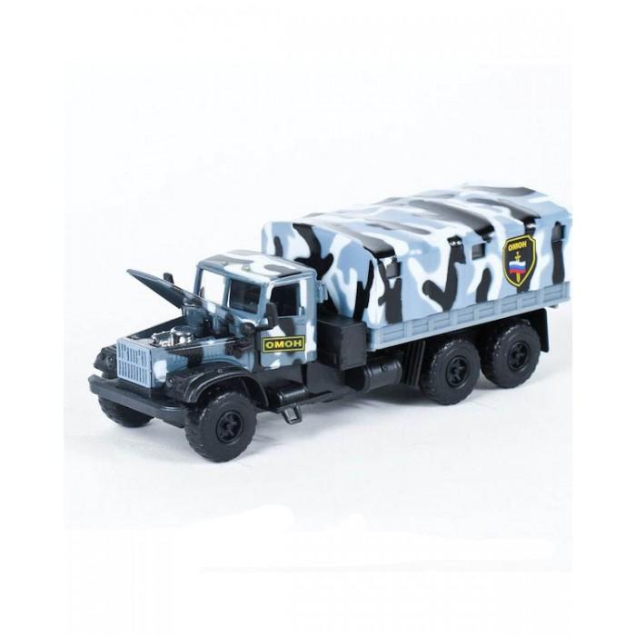 Машины Технопарк Машина металлическая инерционная Краз ОМОН технопарк машина инерционная омон uaz hunter