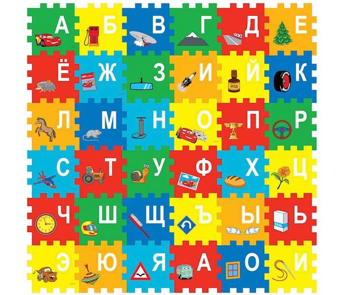 Игровые коврики Играем вместе Disney Тачки коврик-пазл играем вместе пластилин в ведре тачки 7 цветов