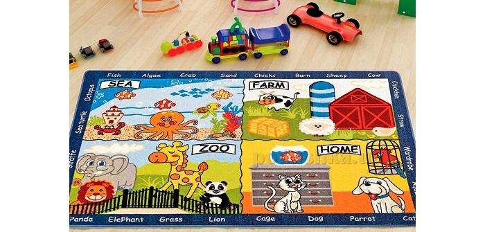 Детские ковры Confetti Kids Коврик Rugs Animal Word 3 мм 133х190 см, Детские ковры - артикул:471431