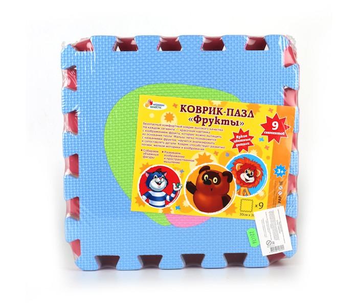 Игровые коврики Играем вместе Союзмультфильм с фруктами коврик-пазл магнит пицца с фруктами