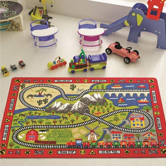 Детские ковры Confetti Kids Коврик Rugs Railway 3 мм 100х150 см, Детские ковры - артикул:471561