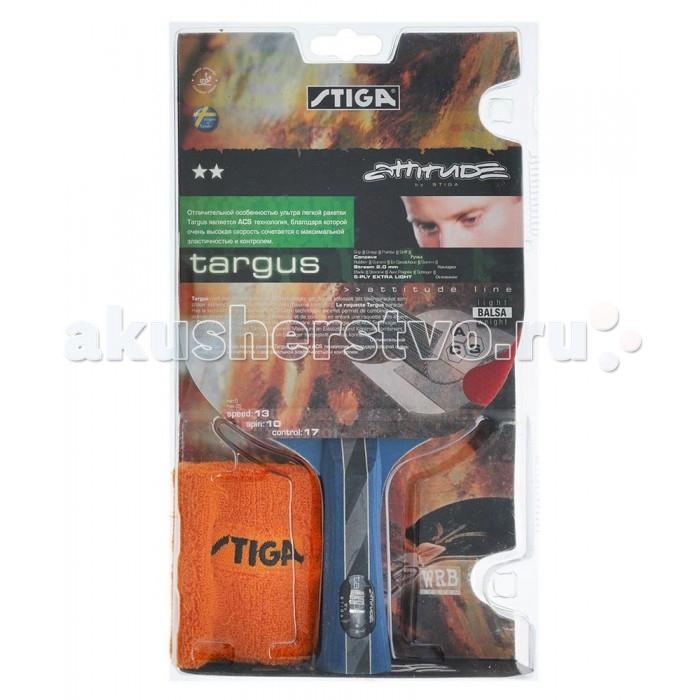 Спортивный инвентарь Stiga Ракетка для настольного тенниса 2 Targus ACS с напульсником