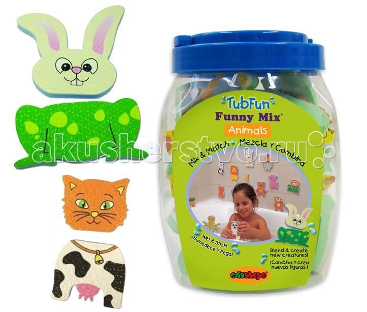 Купание малыша , Игрушки для ванны Edushape Набор для игры в ванне Зверята арт: 47189 -  Игрушки для ванны