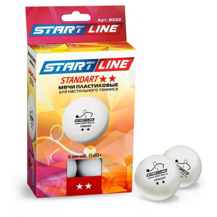 Спортивный инвентарь Start Line Мяч для настольного тенниса 2 Standart 6 шт. мяч для настольного тенниса donic prestige 2 6 штук белый