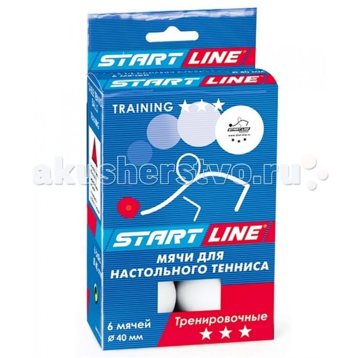 Спортивный инвентарь Start Line Мяч для настольного тенниса 3 Training 6 шт.
