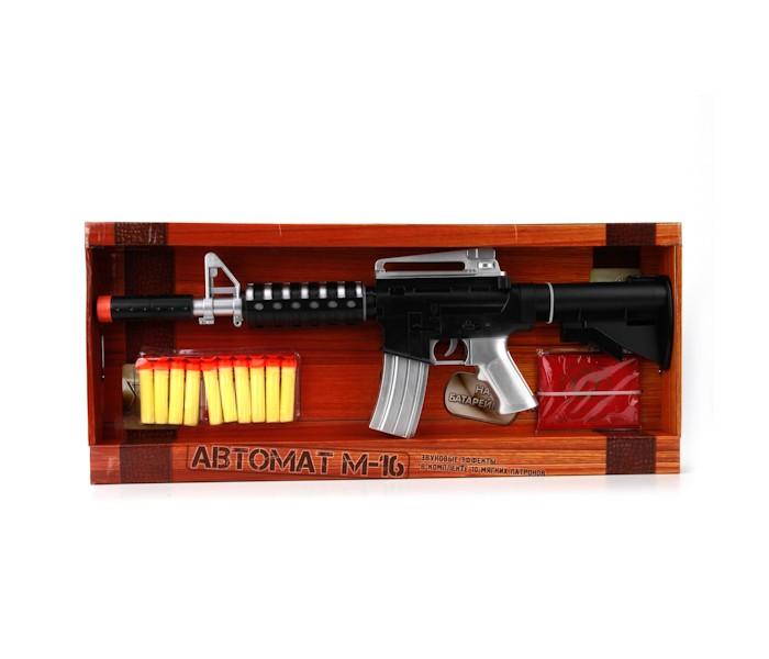Игрушечное оружие Играем вместе Автомат М-16 озвученный