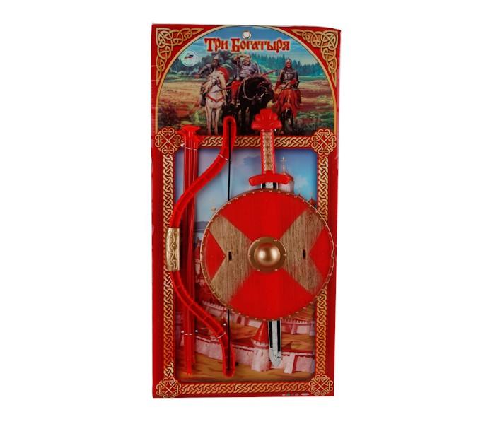 Игрушечное оружие Играем вместе Набор Три богатыря (меч, щит, лук)